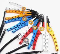8 kleuren Aluminium Meerdere Gebruik Vissen Tang Vis Visgerei Accessoires Lokken Haak Remover Line Cutter Schaar W/Oxford Schede