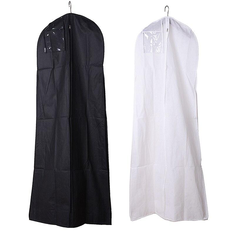 Bridal Garment Storage Bag Covers Waterproof Wedding Dress Cover Long Clothes Dustproof Storage Bag Black White