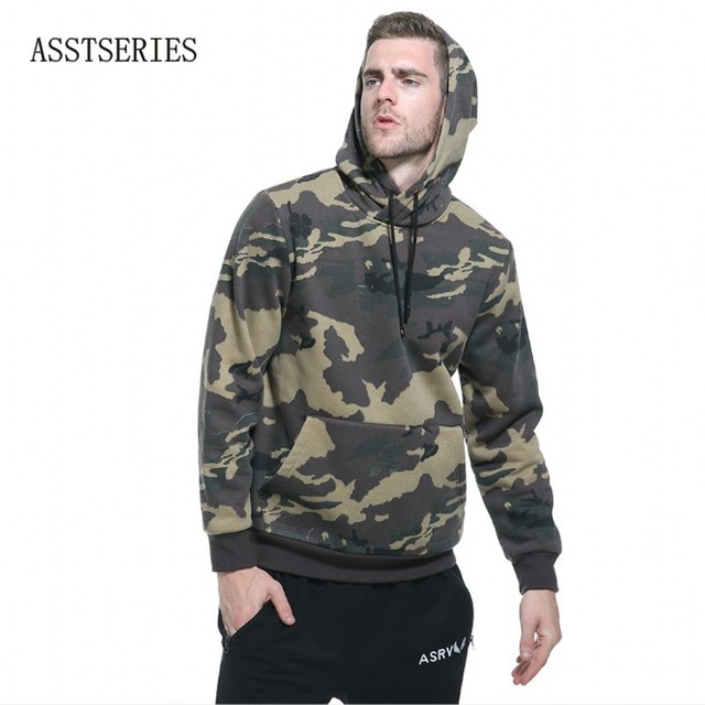 Hoodies Men Camouflage Thick Hood High Street Pullover Cotton Fashion Hip Hop Streetwear Casual Male patchwork camo Hoodie