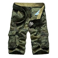 New 2018 Millitary Army Camouflage Shorts Men Casual Top Design Camouflage Military Casual Shorts Homme Cargo
