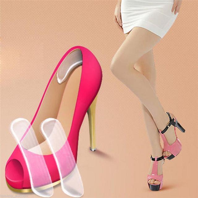 1 זוג נשים אופנה סיליקון כרית מגן כרית להכניס נעלי מדרסים הטוב ביותר מתנה גבוהה נעל מדרסים כרית