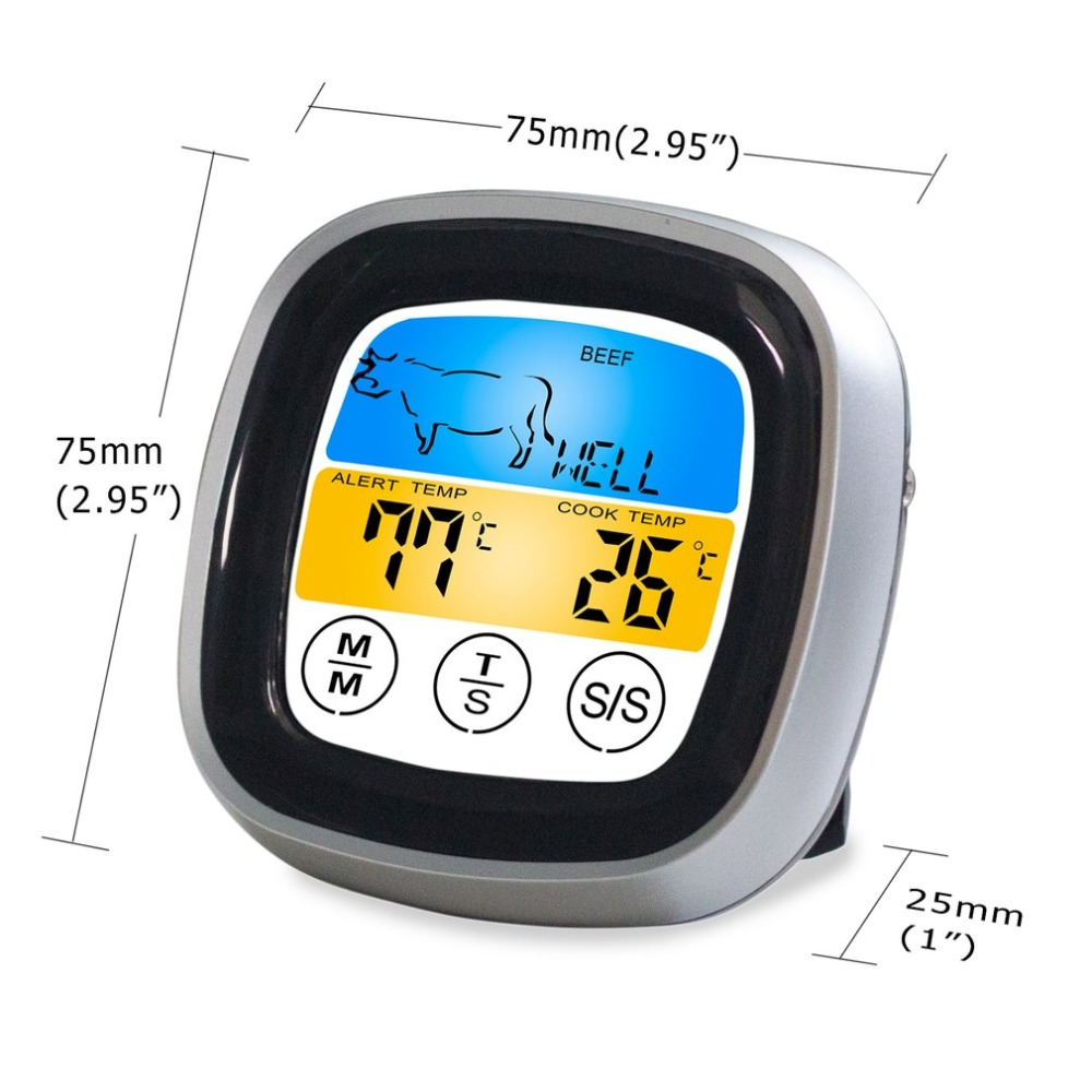 Digital Wireless Food Thermometer with Preset Temperature and Touch Screen Suitable for Perfect Cooking of Chicken Turkey and Fish 5