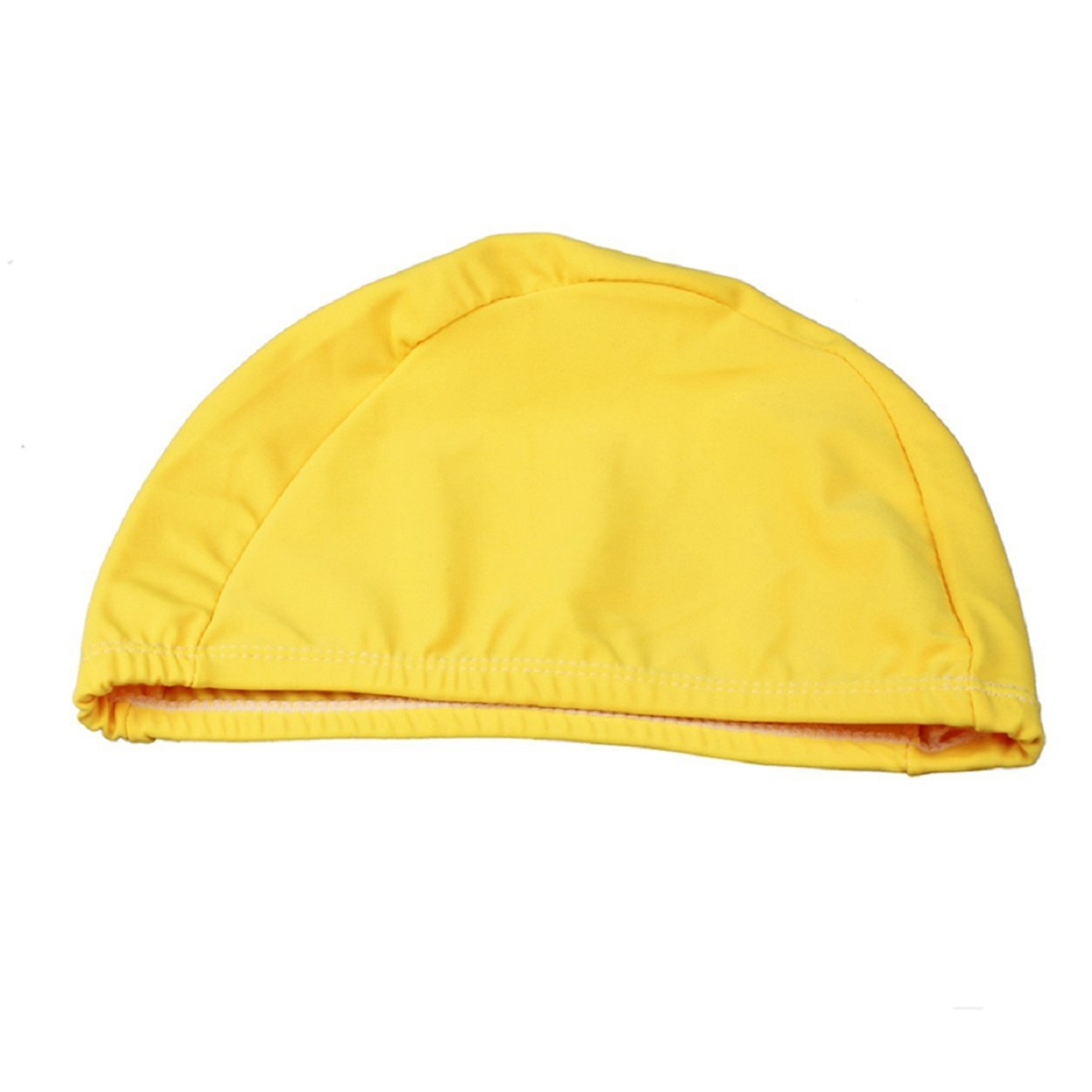 Adult Swimming Hats Unisex Outdoor Sports Stretch Cap Yellow