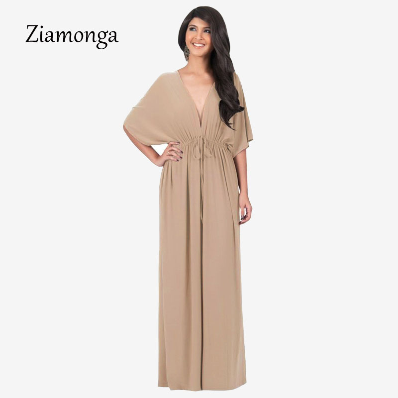 US $15.95 16% OFF|Ziamonga Cheap Clothes China Plus Size Dress Big Size  Vintage Casual Pleated Long Maxi Dress Women Elegant Bodycon Beach Dress-in  ...