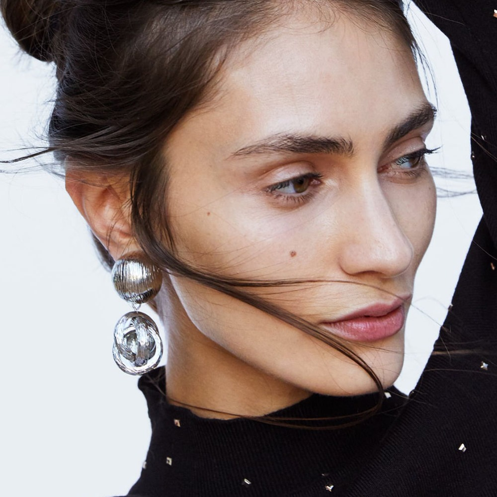 Vedawas ZA Geometric Statement Earrings For Women Accesssori