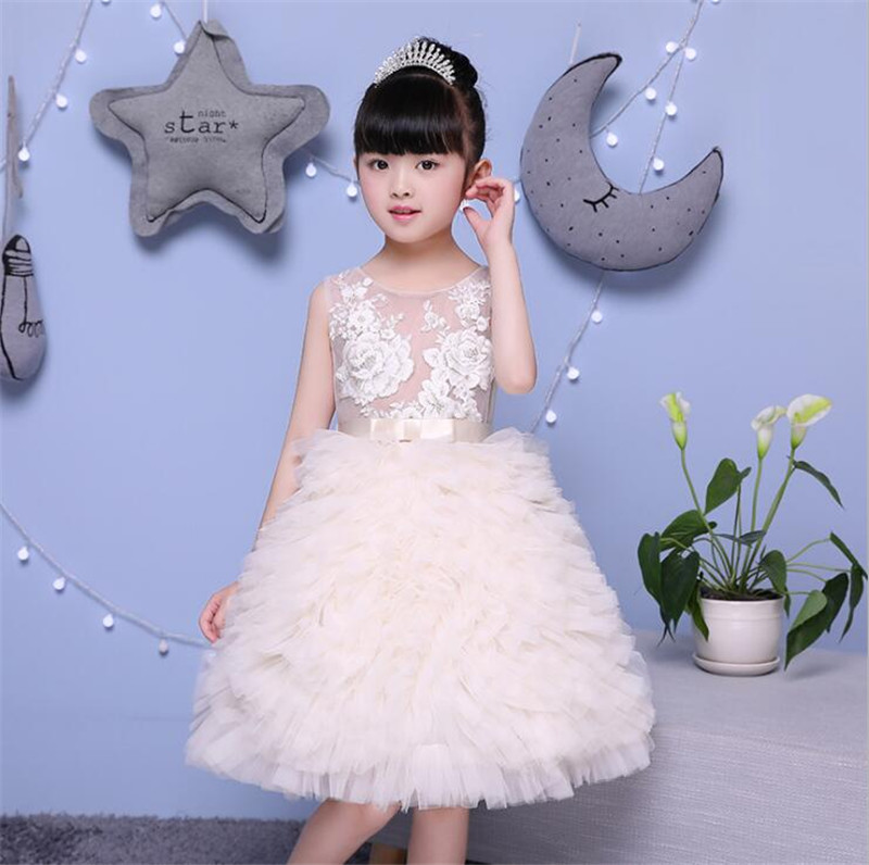 2017 New Flower Girl Dress For Wedding 2 10 Years Birthday Outfits Children s Girls First