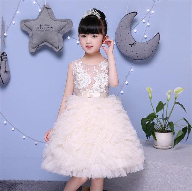 3a374566bf 2017 nowy kwiat dziewczyna sukienka na wesele 2-10 lat urodziny stroje dla dzieci  dziewczyny