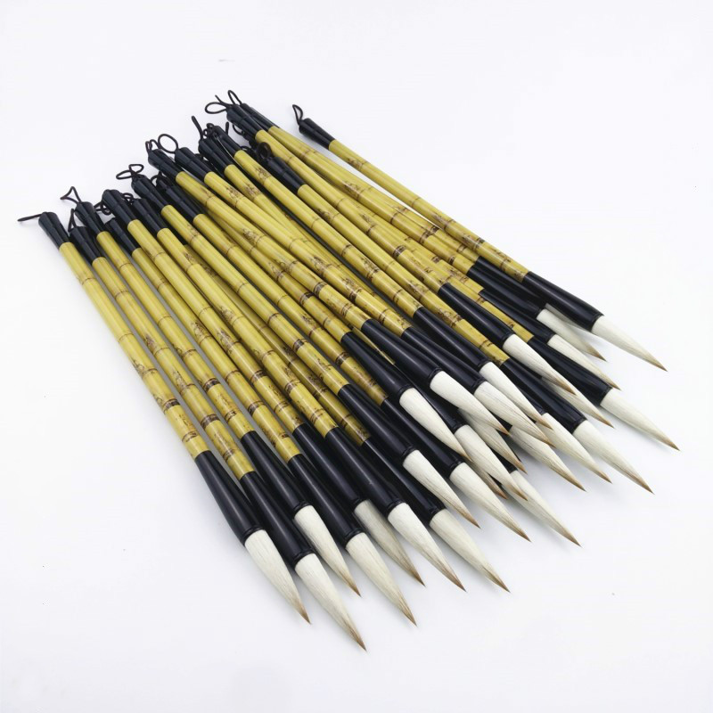 8Pcs Chinese Calligraphy Brushes Pen Multiple Hairs Artist Painting Writing Drawing Brush Woolen Hair Beginners Writing Articles chinese traditional calligraphy brushes pen woolen and weasel hair multiple hairs writing brushes artist drawing copybook suit