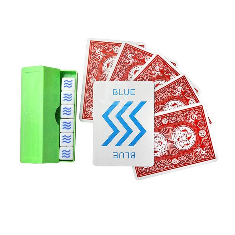Sympathetic Dice Magic Tricks Prediction ESP Dice ESP Card Magic Props For Children Kid Street Close Up Mentalism Comedy