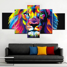 A lion's head in art painting 5 Panel/piece HD Print modern wall posters Canvas Art Painting For home living room decoration naturally beautiful places in india landscape 5 panel hd print wall posters canvas art painting for home living room decoration