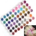 Tracy Simple Nail 60 Colores/Establece DIY Artesanía Lentejuelas Joya Nail Art Glitter Powder Polaco UV Gel Constructor Decoración consejos NJ151