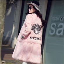 2016 Europe United States Women's Fashion Winter Fur High-end Temperament  Rabbit Fur Coat Round Collar Cultivate One's morality