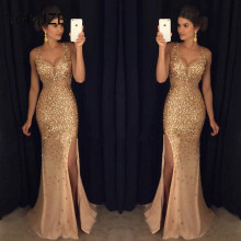 YGMJZB Luxury Long Evening Dresses 2019 Mermaid Party Dress