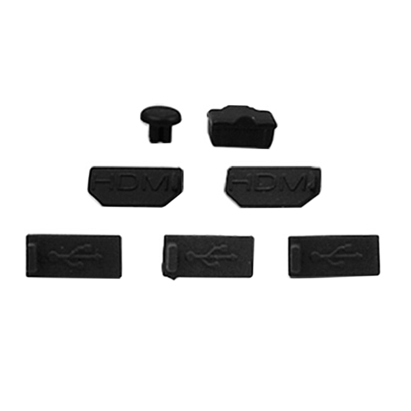 OOTDTY 7pcs USB HDMI Dust Plug Cover for XBOX-ONE X Gaming Console Dust Proof Cap Kits
