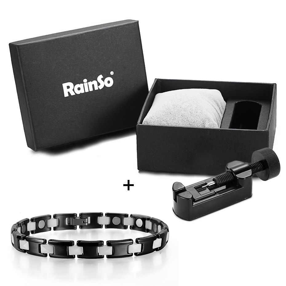 RainSo Wholesal 磁気黒セラミックブレスレット女性 2019 ホット販売ファッション治癒ホログラムジュエリーオーブ 211 ドロップ船