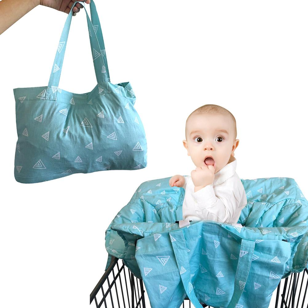 Printed Baby Child Supermarket Trolley Dining Chair Protection Antibacterial Safety Travel Cushion Portable Shopping Cart