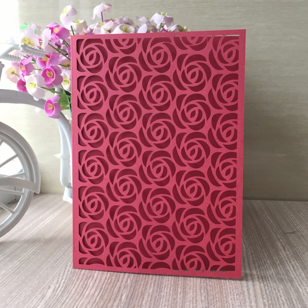 50Psc/Lot chinese style red wedding decoration cover card party ...