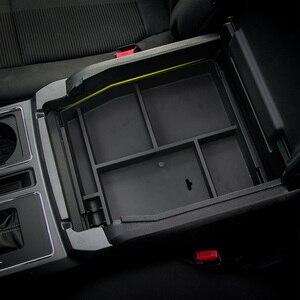 Image 3 - Автомобильный ящик в салон для хранения в подлокотнике MOPAI, Декоративный ящик для перчаток из ABS для Ford F150, 2015