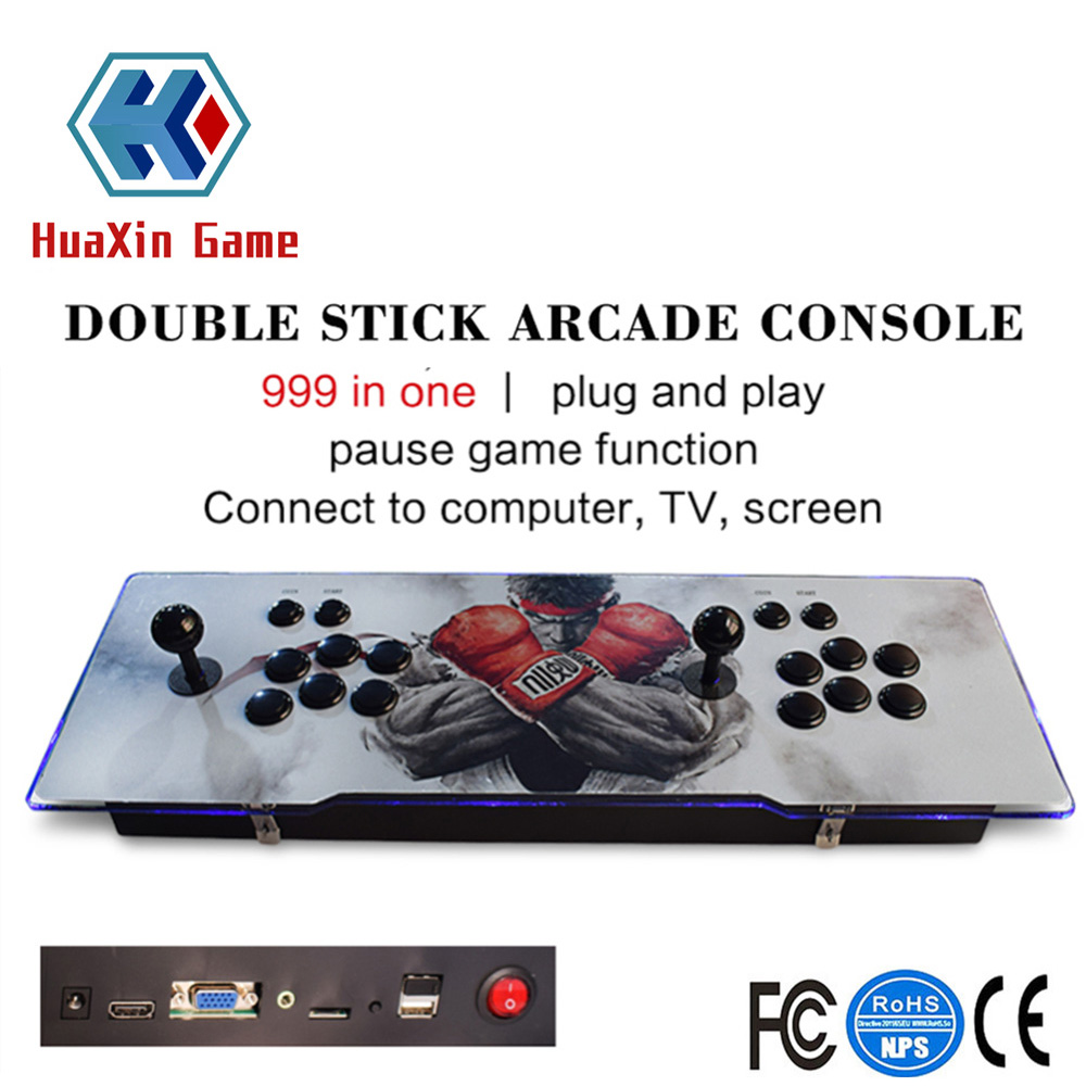 Classic Game Box Arcade Game Console 1388 Retro Classic Games Metal Double Stick Video Console Support HDMI / USB / VGA Output цена