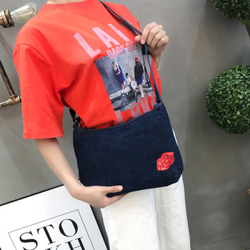AiiaBestProducts - Women Denim Vintage Crossbody Bag Fashionable Bags 1