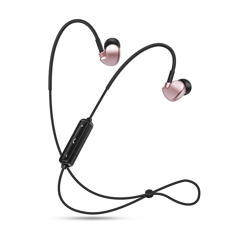 Black Rose Gold Bluetooth Earphones Neckband In-Ear Wireless Headphones Bass Earbuds Running Sport for Xiaomi Apple Phone ep25g