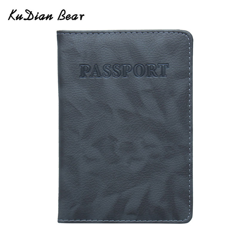 цена на KUDIAN BEAR Passport Cover Waterproof The Cover of the Passport Transparent Case for Travel Passport Holder BIH075 PM49
