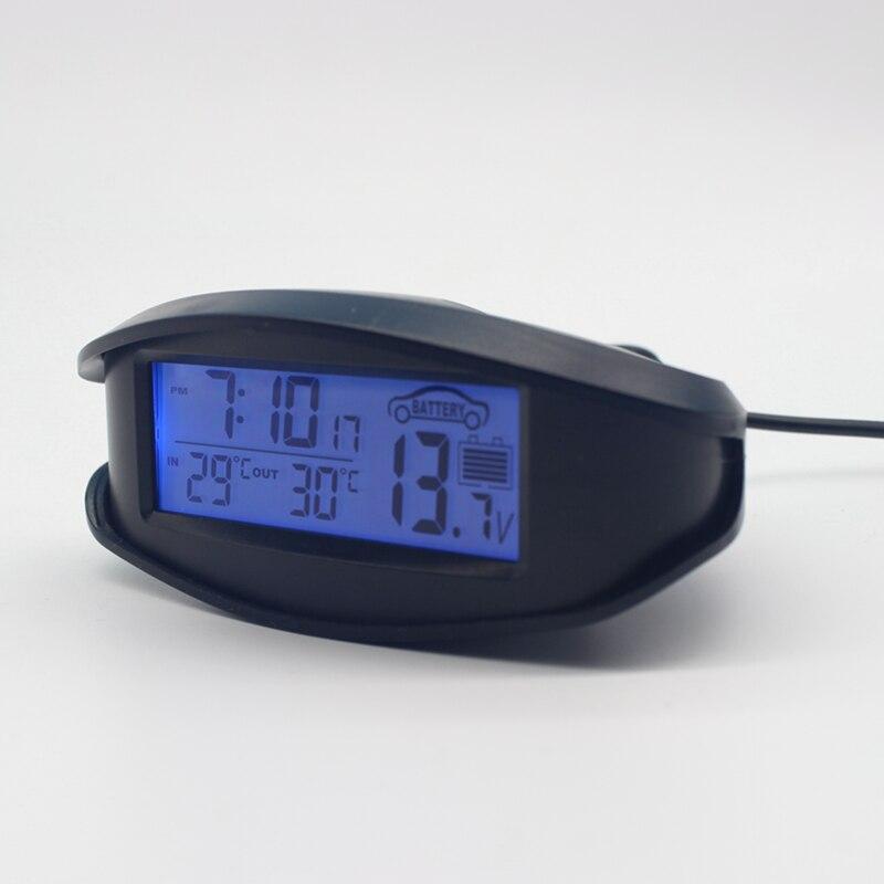 Digital Car Thermometer Luminous Led Table Clock Indooroutdoor