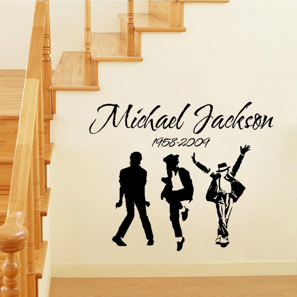Michael Jackson Wallpaper For Bedroom Diy Michael Jackson Mj Music Dancing Art Wall Sticker For Living