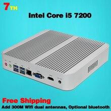 Мини-Пк Поколения Intel Core i5 7200U Кабы Lac Win10 настольных Вентилятора игровой компьютер usb 3.0 4 К HTPC Безвентиляторный Nuc Intel HD Graphics 620