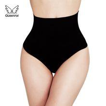 52799a23e3d9 Women High Waist Briefs 2 pieces Waist Trainer Tummy Slimming Control  Underwear Body Shaper Thong Butt Lifter Seamless Panties