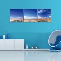 The Highway Under Blue Sky Pictures Print On Canvas Wall Art Modern Scenery High Definition Painting