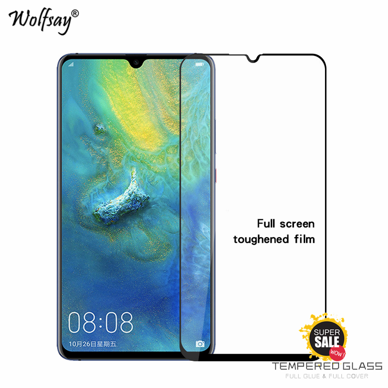 2PCS Full Glue Cover Tempered Glass Huawei Mate 20 Screen Protector For Huawei Mate 20X Glass Phone Film For Huawei Mate 20 X <