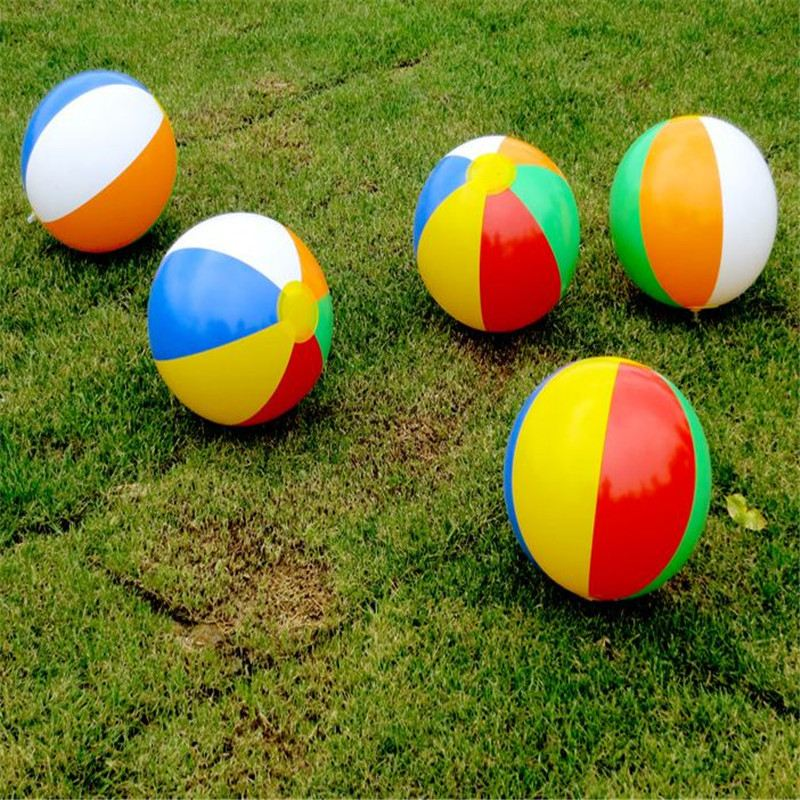 New 23cm Colorful Inflatable Beach Toy Ball Float Water Swimming Play for Children Toys