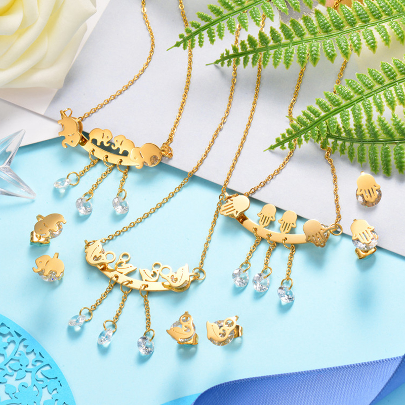 BAOYAN 316L Stainless Steel Fashion Chic Ladies Jewelry Sets Jewellery for Women Wholesale Mixed Lots Clearance Sale Joyas de Ac