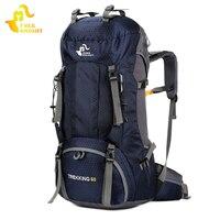 Free Knight Waterproof Travel Backpack 60L Trekking Tourist Backpack Men Women S Sport Bag Outdoor Climbing