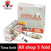 4pcs Lot China Original TORCH Double Iridium Spark Plugs Q6II For C MAX FOCUS II GALAXY