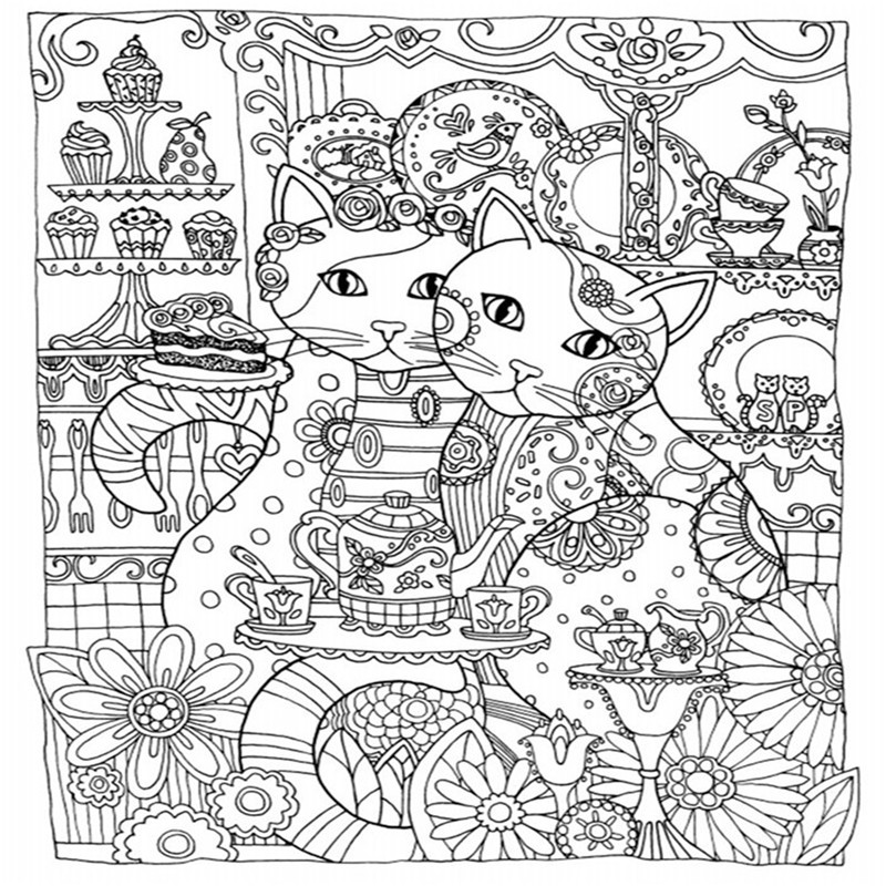 creative haven creative cats coloring books for adults 24pages stress relieving antistress coloring book adult coloring books in books from office school - Coloring Book For Adults
