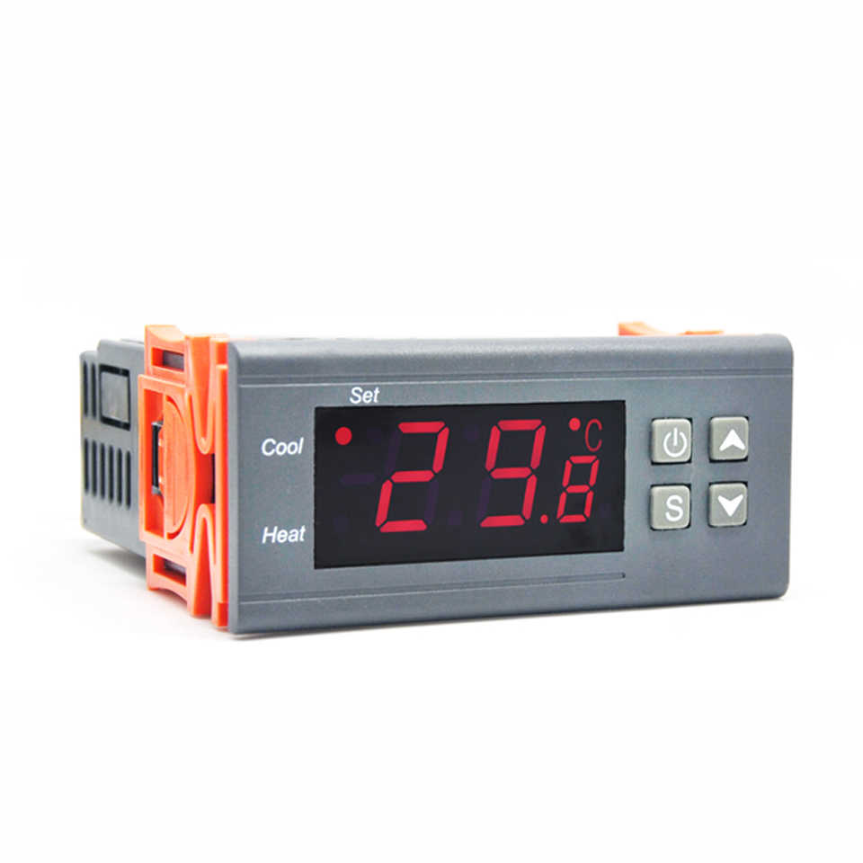Two Relay Output LED Digital Temperature Controller Thermostat Incubator STC-1000 110V 220V 12V 24V 10A with Heater and Cooler