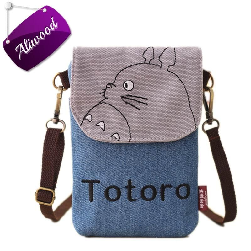 2017 New Cartoon Totoro Women Bag Messenger Bags Lady's Mini Shoulder Bag Handbags Female Clutch Purse Phone Bag Set For Animals