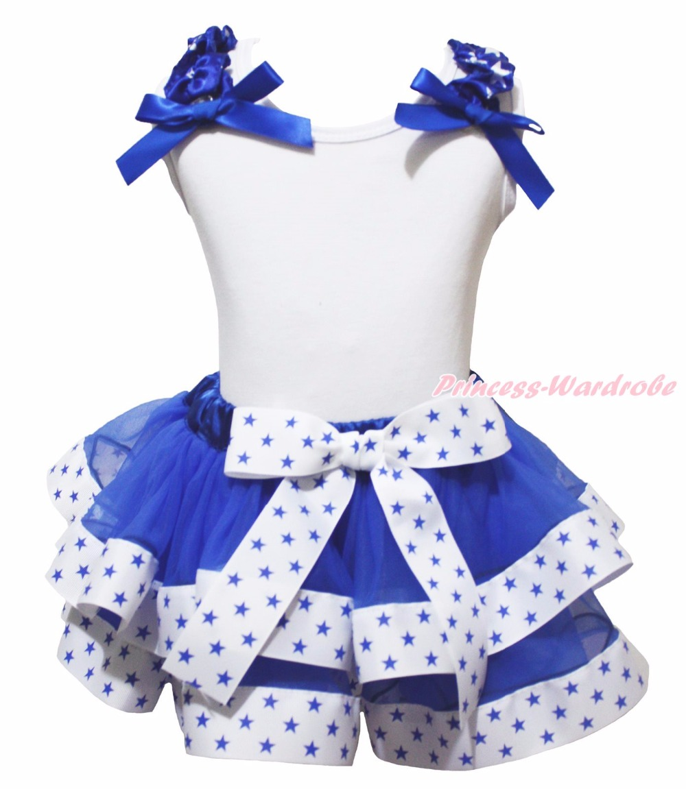 4th July Born in the USA Hanukkah Star of David Bling Heart Catholicism Cross White Top Blue Stars Ribbon Trim Skirt Girls NB-8Y 4th july america usa heart girls royal blue top bling sequins baby skirt 3 12m