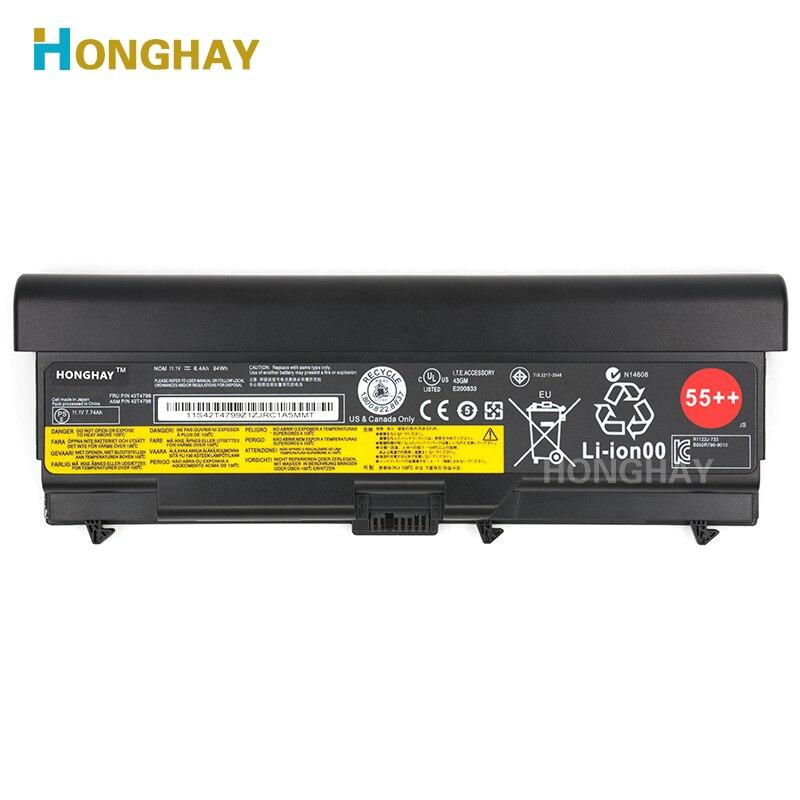 Honghay batteria Del Computer Portatile per LENOVO ThinkPad E40 E50 E420 E520 SL410 SL510 T410 T510 T420 T520 W510 W520 L410 L420 l510 L520