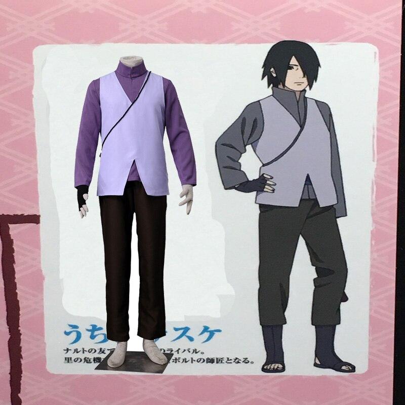 Any Size Sasuke Uchiha Cosplay Costume COS Japanese Anime ...