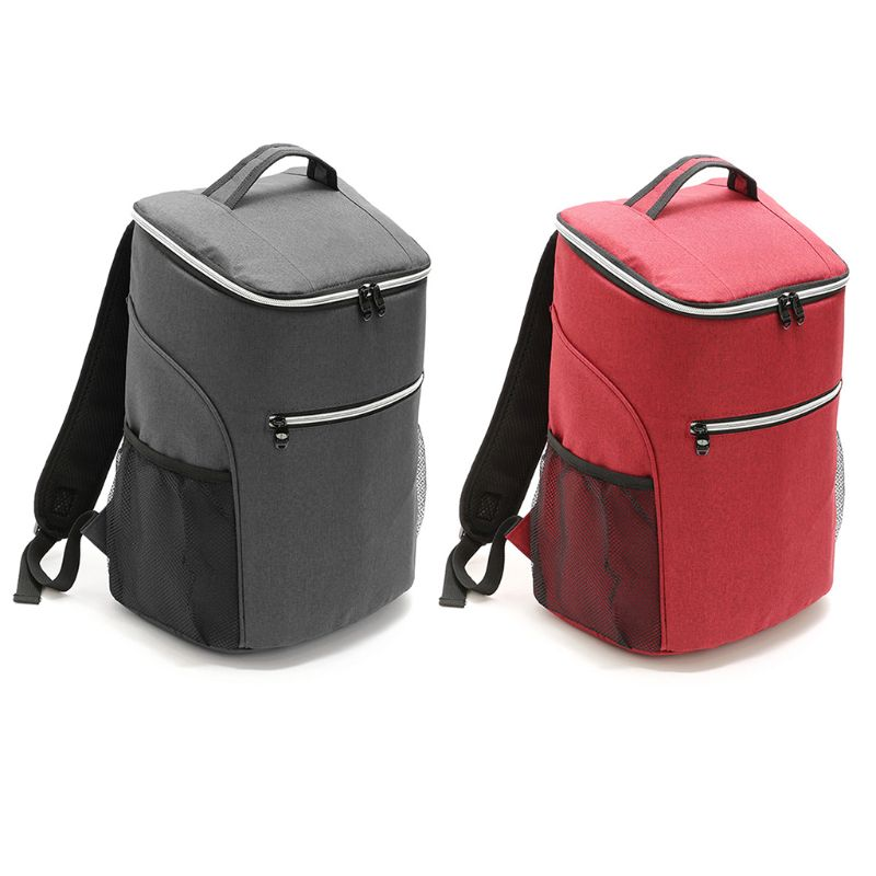 20L Unisex adjustable Backpack Cooler Food Drinks Carrier Insulated Drinks Ice Pack Lunch Dinner Carrier Box image