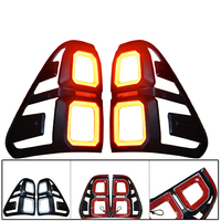 CITYCARAUTO LED REAR TAIL LIGHTS COVER LED LAMP HOODS FIT FOR TOYTA HILUX REVO PICKUP AUTO ACCESSORIES LED TAIL LIGHTS COVERS