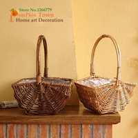 NEW Fine made hand made wicker storage basket,two color optional storage accessories,carrying plastic bags,can grow green plants