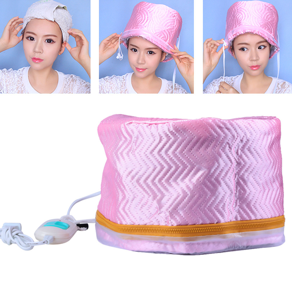 1 unid pelo vapor de secadores de pelo eléctricos de calefacción tapa tratamiento térmico sombrero belleza SPA nutritivo pelo estilo nos preocupan macho