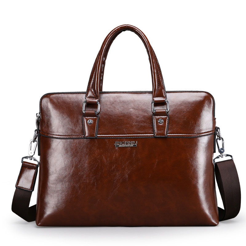 High Quality Luxury Cow Genuine Leather Business Briefcase Large Vintage Men's Travel Han'd Bag Classic Tote Computer Bag