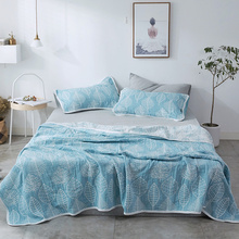 Single Double Bed Summer Comeforter Bedding Sets Cotton Quilt Pillowcase Japan Style Bedspread Coverlet