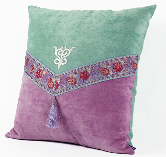 Home Textile Tassel Embroidery Cushion Cover Green Pillow Cover Arab Mesmerizing Western Style Decorative Pillows