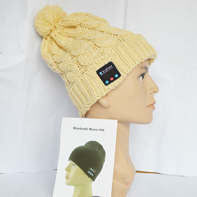 Cheap high quality Knitting Colorful Bluetooth beanie Hat with headphone.